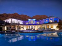 Vegas Views - home exterior - rear - infinity pool - Las Vegas luxury home rental